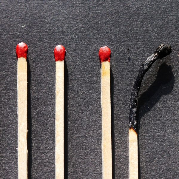 Ausgebrannt am Arbeitsplatz!