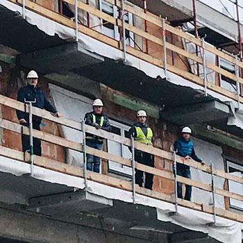 Reinhard Übleis (Übleis Sicherheitstechnik), Alexander Moser (Planungs- und Baustellenkoordinator), Manuel Ries (Polier Zöfa Baubüro), Ing. Bernd Fohrafellner (Bauleiter Zöfa Baubüro)
