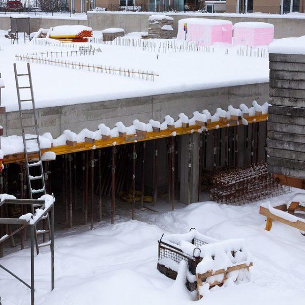Wenn es kalt wird auf der Baustelle!