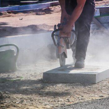 Quarzfeinstaub auf Baustellen